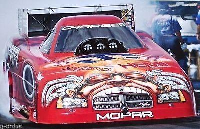 "RARE NEW DODGE GARY SCELZI FUNNY CAR 26"" x 20""  MOPAR PERFORMANCE NHRA POSTER!"