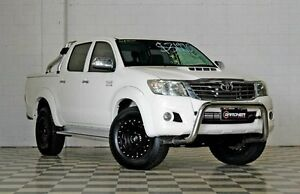 2011 Toyota Hilux KUN26R SR5 White 4 Speed Automatic Dual Cab Burleigh Heads Gold Coast South Preview