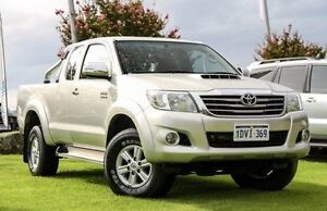 2012 Toyota Hilux KUN26R MY12 SR5 Xtra Cab Silver 5 Speed Manual Utility Wangara Wanneroo Area Preview