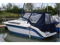 Boat, used, good condition , blue and white