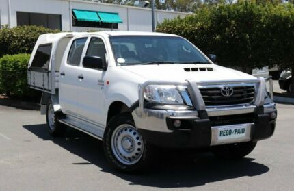 2014 Toyota Hilux KUN26R MY14 SR Double Cab Glacier 5 Speed Manual Cab Chassis Acacia Ridge Brisbane South West Preview