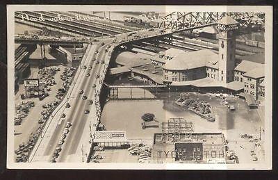 REAL PHOTO Postcard Portland,Oregon/OR 1948 Flood Aerial view Union RR Depot