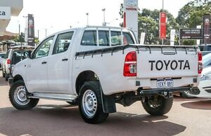 2014 Toyota Hilux KUN26R MY14 SR Double Cab White 5 Speed Manual Utility Westminster Stirling Area Preview