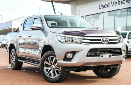 2016 Toyota Hilux GUN126R SR5 Double Cab Silver Sky 6 Speed Manual Utility