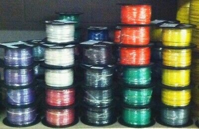 500 Ft Tffntewn Wire. 18 Awg Stranded 600 Volt. Made In Usa. 7 Solid Colors