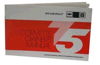 1975 Corvette Owners Manual