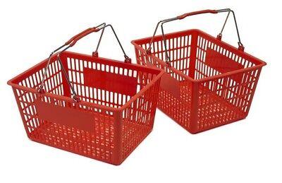 New Shopping Basket Set Set Of 2 Red