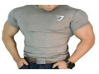 gymshark t shirts (gym, weights, fitness, muscle, not gucci or versace)