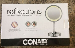 NEW Conair reflections lighted mirror
