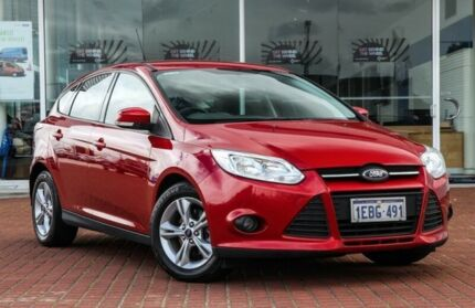2012 Ford Focus LW MKII Trend Red 5 Speed Manual Hatchback