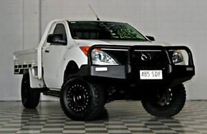 2012 Mazda BT-50 UP XT White 6 Speed Manual Cab Chassis Burleigh Heads Gold Coast South Preview