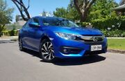 2016 Honda Civic 10th Gen MY16 VTi-S Blue 1 Speed Constant Variable Sedan Medindie Walkerville Area Preview