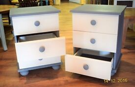 Matching Pair Painted Bedside Tables