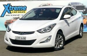 2013 Hyundai Elantra MD2 Active White Sports Automatic Sedan Campbelltown Campbelltown Area Preview