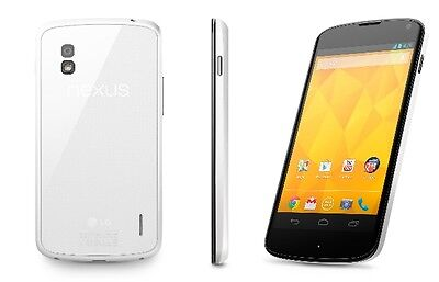 New LG Nexus 4 LG-E960 Factory Unlocked GSM 8GB 8MP Android Smartphone White