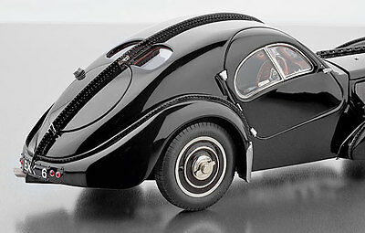1938 Bugatti Type 57 SC Atlantic in Black by CMC M-085 in 1:18 Scale