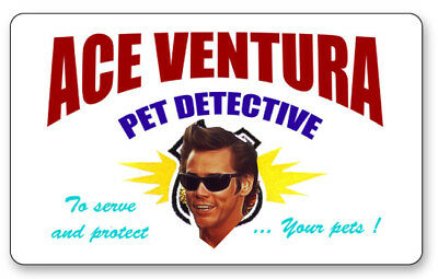ACE VENTURA PET DETECTIVE NAME BADGE PROP HALLOWEEN COSPLAY PIN BACK - Ace Ventura Halloween Costumes
