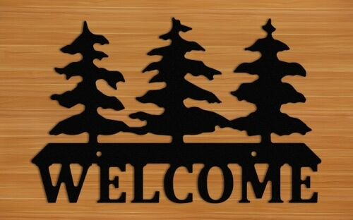 Pine Tree Outdoor Welcome Sign
