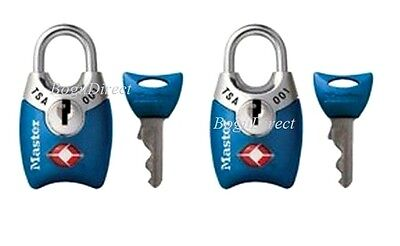 Luggage Locks TSA Approved Padlocks Master Lock Set of 2 w/ Keys Color May Vary