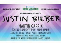 Justin Bieber - British Summer Time festival