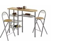 Breakfast table with two folding chair
