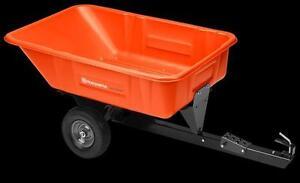 Husqvarna 10' Poly Swivel Dump Cart DC600P
