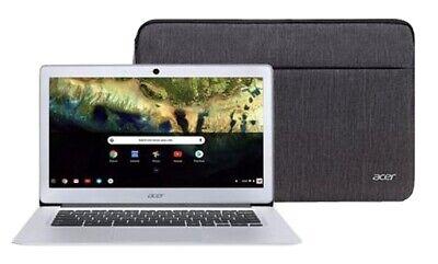 "NEW Acer 14"" Chromebook Intel Quad Core Atom x5 1.04GHz 32GB SSD 4GB RAM+ Sleeve"