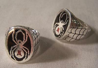 DELUXE BLACK WIDOW SPIDER NEW SILVER BIKER RING BR50 mens fashion SPIDERS RINGS
