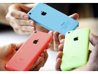APPLE IPHONE 5C - 8GB AND 16GB - BLUE, GREEN & PINK FOR SALE - 100% UNLOCKED - NEXT DAY DELIVERY