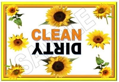Sunflower  Dishwasher Magnet Clean Dirty portable   XL SIZE BEST