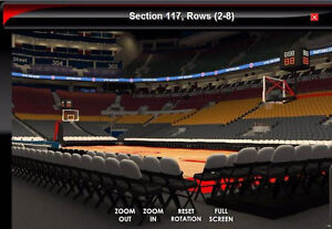 RAPTORS SEASON TICKETS SECTION 117 ROW 3 CALL 416-910-8381