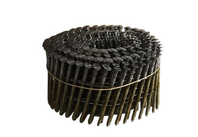 meite 15 Degree 3'' x 0.120'' Wire Coil Ring Shank Coil Nails Coil Siding Nails