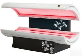 SUNBED 24 TUBE TOPAZ MODEL WITH 400 WATT FACIAL TANNER AND NEW TUBES