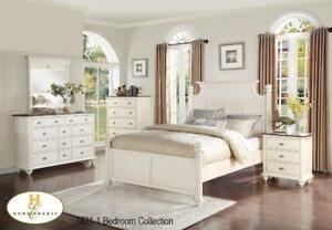 WHITE MASTER BEDROOM SET | WHITE 6PCS. QUEEN SIZE BEDROOM SET (MA2219)