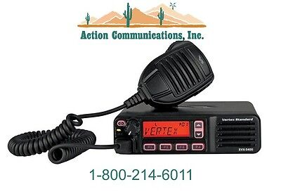 New Vertexstandard Evx-5400 Uhf 403-470 Mhz 45 Watt 512 Ch. Mobile Radio