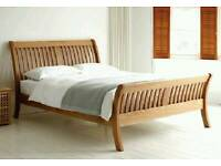 Used solid wooden double bed