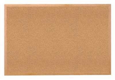 GHENT 1423-1 Cork Bulletin Board, Natural, Indoors