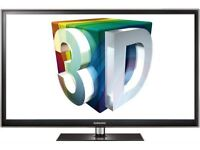 """samsung 51"""" 3D tv. full HD 1920 x 1080p. watch tv or play games in 3D. 3 pairs 3D glasses. ex cond"""
