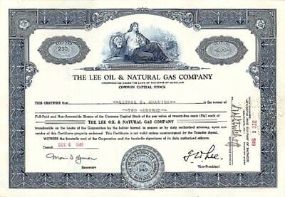 Lee Oil   Natural Gas Co