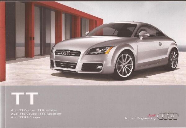 2012 12 Audi  TT  /  TTS  /  TT RS original sales  brochure  MINT