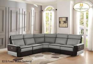 Power Sectional in Real Leather - Couch Sale (BD-2433)