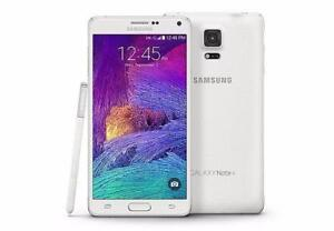 New!Samsung Galaxy Note 4 32gb Black/White Unlocked in Mint Condition!
