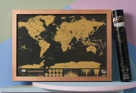 Luckies Deluxe Scratch Map £10 (Never removed from package) RRP £16.99