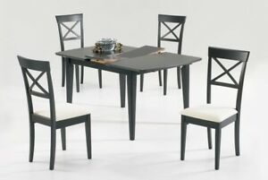 FALL SEASON SALE! Solid Wood 4 Chairs and table  Table with leaF