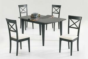 BRAND NEW!! ESPRESSO FINISH, SOLID WENGE WOOD 5 Pc DINING SET