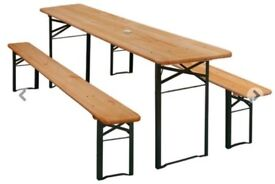 October Fest Beer Table and Bench Sets, foldable