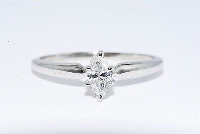 .20CT NATURAL SOLITAIRE MARQUISE DIAMOND ENGAGEMENT RING 14K WHITE GOLD