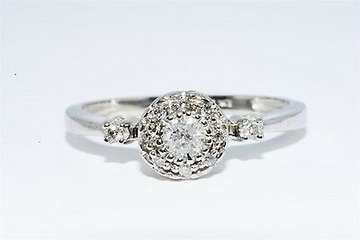 .30CT NATURAL ROUND CUT DIAMOND ENGAGEMENT RING 10K WHITE GOLD