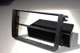 Double DIN black stereo facia adaptor, Volkswagen (Golf V, 04>), (Touran) & (Polo, 05>)
