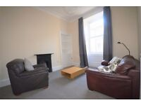 Immaculately presented 1 bedroom 2nd floor furnished flat in Trinity available March – NO FEES